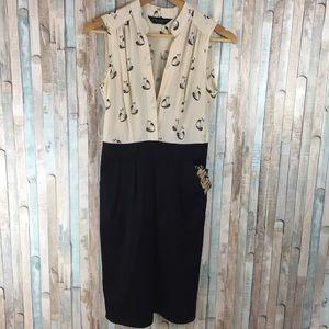 Dorothy Perkins Cute Cat Print Dress size S